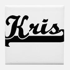 Kris Classic Retro Name Design Tile Coaster
