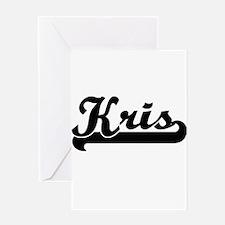 Kris Classic Retro Name Design Greeting Cards