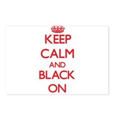 Keep Calm and Black ON Postcards (Package of 8)