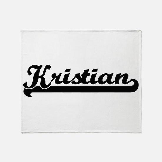 Kristian Classic Retro Name Design Throw Blanket