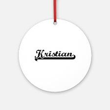 Kristian Classic Retro Name Desig Ornament (Round)