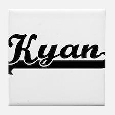 Kyan Classic Retro Name Design Tile Coaster