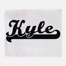 Kyle Classic Retro Name Design Throw Blanket