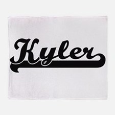 Kyler Classic Retro Name Design Throw Blanket