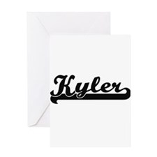 Kyler Classic Retro Name Design Greeting Cards