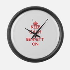 Keep Calm and Bennett ON Large Wall Clock