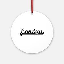 Landyn Classic Retro Name Design Ornament (Round)