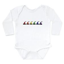 Rainbow Kisses Long Sleeve Infant Bodysuit