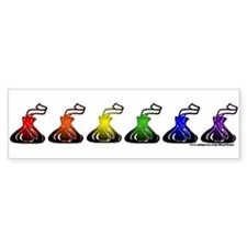 Rainbow Kisses Bumper Sticker