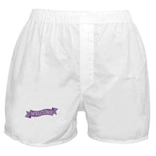 Curvy Banner Boxer Shorts