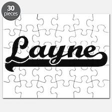 Layne Classic Retro Name Design Puzzle