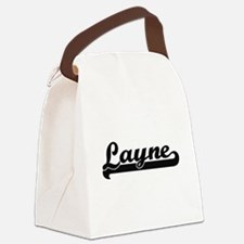 Layne Classic Retro Name Design Canvas Lunch Bag