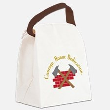 Crossed Fire Axes Canvas Lunch Bag