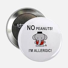 "NO PEANUTS I'M ALLERGIC 2.25"" Button (10 pack)"
