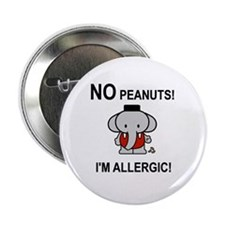 NO PEANUTS I'M ALLERGIC Button