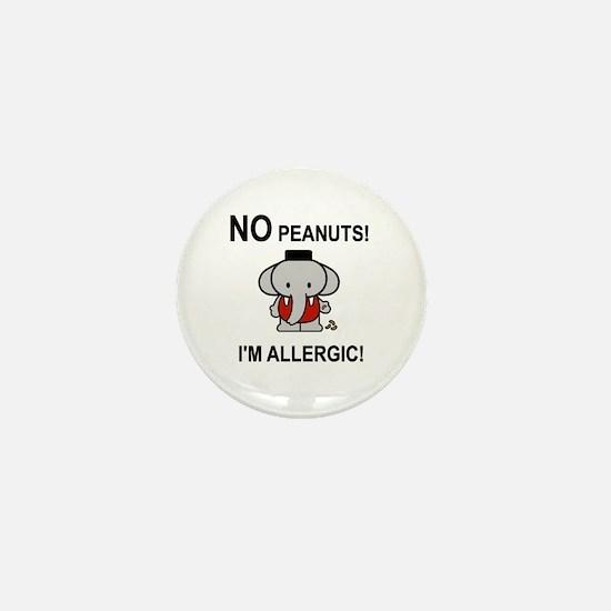 NO PEANUTS I'M ALLERGIC Mini Button