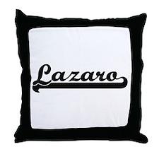 Lazaro Classic Retro Name Design Throw Pillow