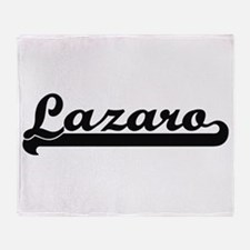 Lazaro Classic Retro Name Design Throw Blanket