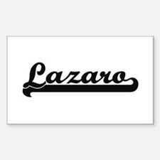 Lazaro Classic Retro Name Design Decal