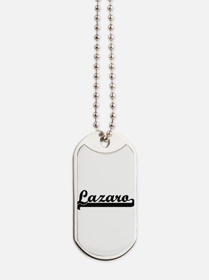 Lazaro Classic Retro Name Design Dog Tags