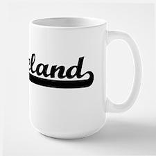 Leland Classic Retro Name Design Mugs