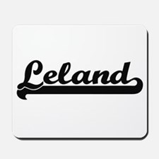 Leland Classic Retro Name Design Mousepad