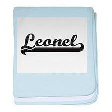 Leonel Classic Retro Name Design baby blanket