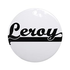 Leroy Classic Retro Name Design Ornament (Round)