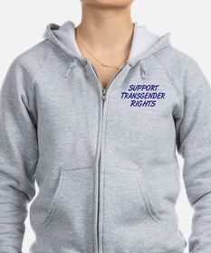 Support Transgender Rights Zip Hoodie
