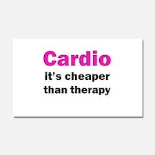 Cardio (pink) Car Magnet 20 x 12