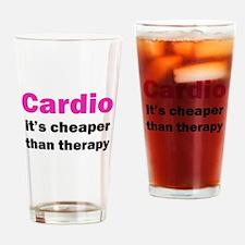 Cardio (pink) Drinking Glass
