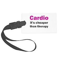Cardio (pink) Luggage Tag