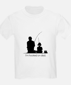 Hooked on Dad Fishing Pier T-Shirt