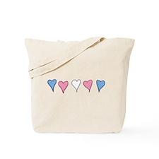 Transgender Pride Hearts Tote Bag