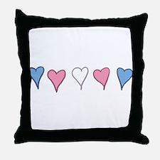 Transgender Pride Hearts Throw Pillow