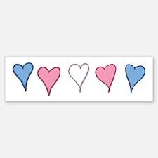 Transgender Pride Hearts Bumper Bumper Bumper Sticker