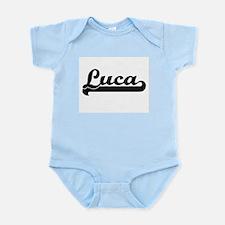 Luca Classic Retro Name Design Body Suit