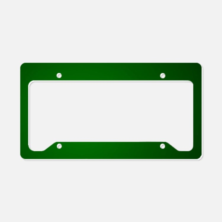 Hunter Green gradient License Plate Holder