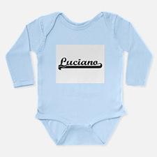 Luciano Classic Retro Name Design Body Suit