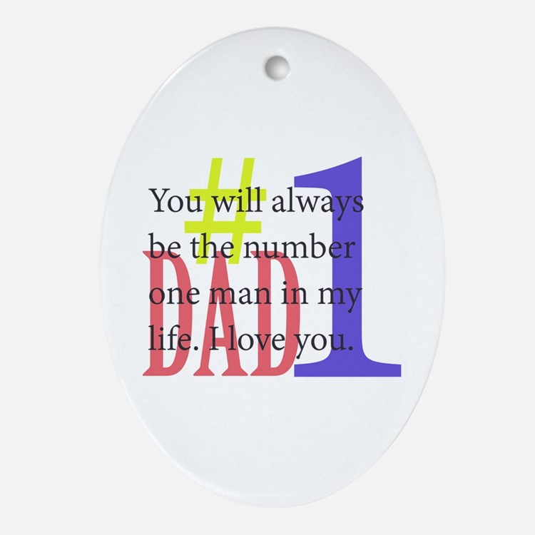 #1 Dad Ornament (Oval)