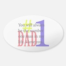 #1 Dad Decal
