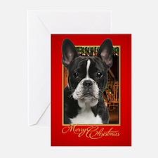 French Bulldog Christmas Greeting Cards