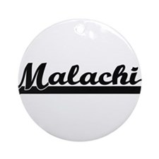 Malachi Classic Retro Name Design Ornament (Round)