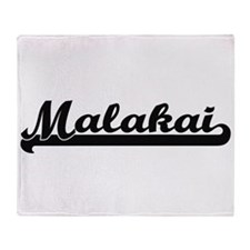 Malakai Classic Retro Name Design Throw Blanket