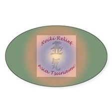 Reiki Relief - Asia Tsunami Oval Decal