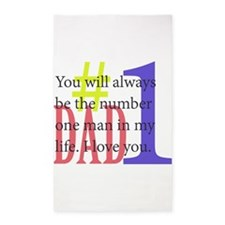 #1 Dad Area Rug