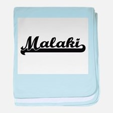Malaki Classic Retro Name Design baby blanket