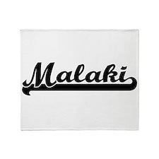 Malaki Classic Retro Name Design Throw Blanket