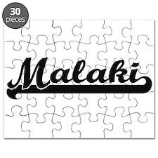 Malaki Classic Retro Name Design Puzzle