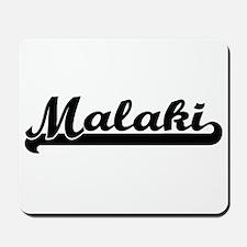 Malaki Classic Retro Name Design Mousepad